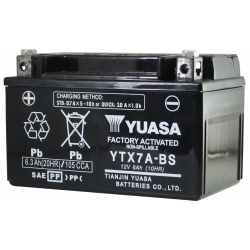BATERIA YUASA YTX7A-BS DE GEL PARA ZANELLA RX 150 SCOOTER Y OTRAS