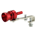 KIT SIMIL TURBO UNIVERSAL, SILVATO PARA ESCAPE ANODIZADO ROJO.