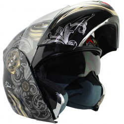 CASCO MAX V210 REBATIBLE 2 VISORES AVIATOR