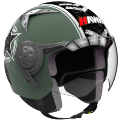 CASCO HAWK RS9 VERDE GRAFICAS MILITARES