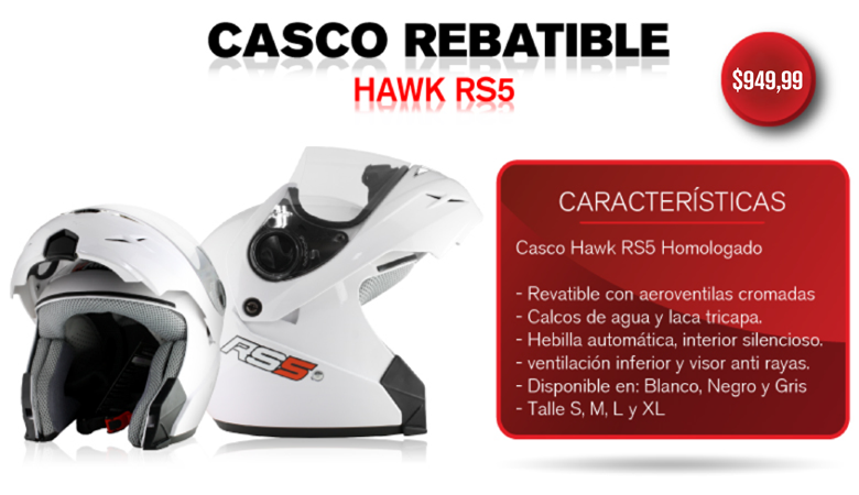 CASCO HAWK RS5 BLANCO